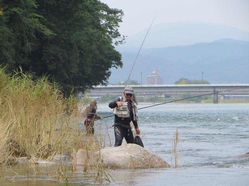 球磨川_鮎釣り_木山の瀬2