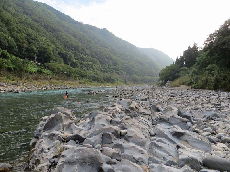球磨川_鮎釣り_角折の瀬1