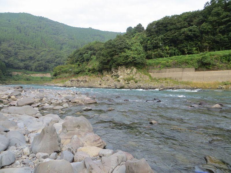 球磨川_鮎釣り_角折の瀬2