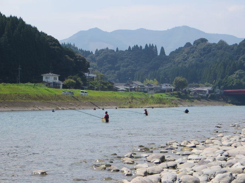 球磨川_鮎釣り_小波の瀬2