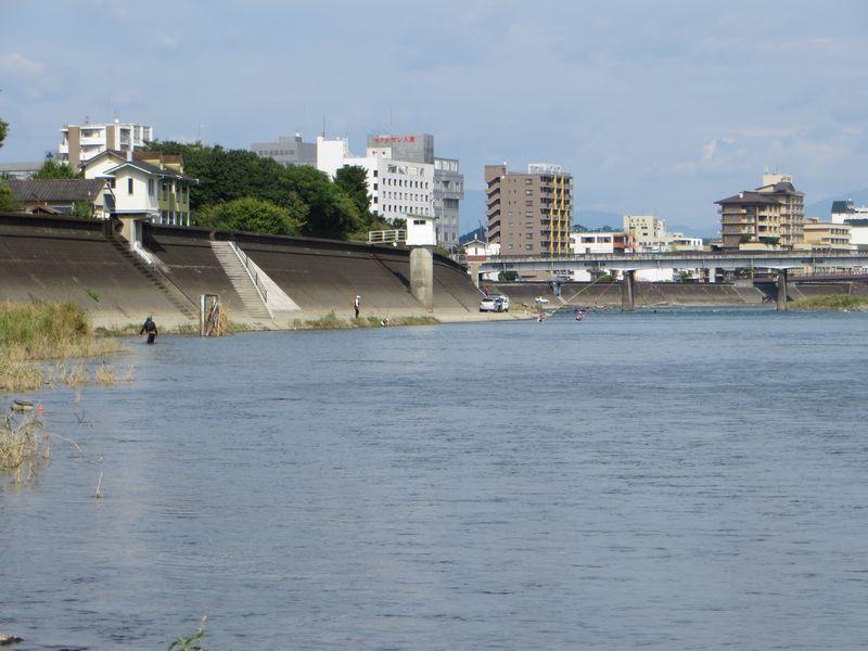 球磨川_鮎釣り_小波の瀬3