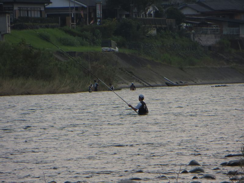 球磨川_鮎釣り_小波の瀬5