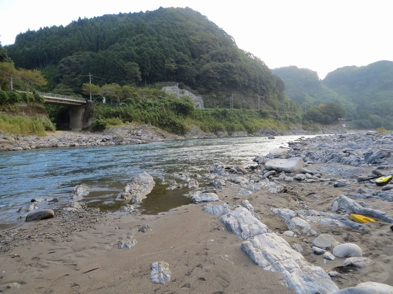 球磨川_鮎釣り_松の花の瀬