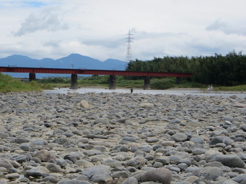 球磨川_鮎釣り_合流点鉄橋下